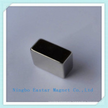 Customized N42 Neodymium Block Magnet with Nickel Plating
