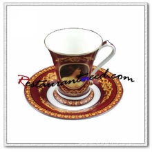 B127 200ml YAMI Мона Лиза Tea Cups & Saucers 2 Набор