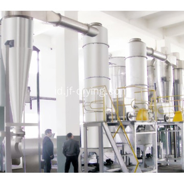 Tempel bahan spin flash dryer / drying