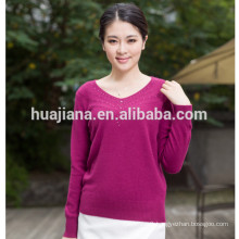 2017 fashion women's cashmere knitting sweater
