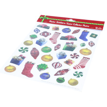 Kids Stickers Factory Merry Christmas Die Out Decorative Custom Kiss Cut Sticker Sheet