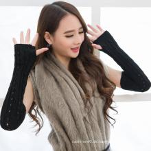 Neuer Entwurf, der Arm-Wärmer, Mädchen-Handschuhe, Baumwolle u. Acryl strickt, strickt Handschuhe für Großverkauf