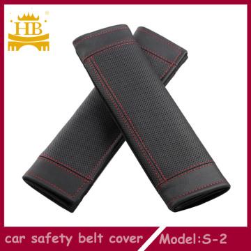 Cubierta de fibra de cuero coche del cinturón de seguridad
