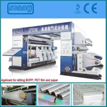 película plástica de super-velocidade de 2500mm de corte máquina de BOPP, PET, CPP, película de BOPP