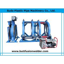 Máquina de solda de topo de plástico de tubo de polietileno Sud800h