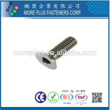 Taiwan Manufacturing Copper M2 Zinc Plated Hexagon Socket Cap Screw