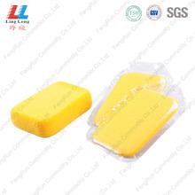 Прямоугольник желтый губка для мытья автомобиля