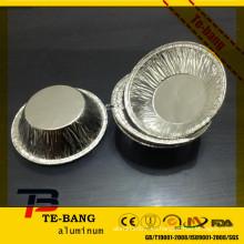 Copa de aluminio desechable de plata de la línea aérea