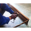 BS476 60mins marco de acero Fire Rated Wooden Door
