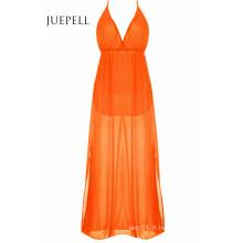 Élégant Plongeant Cou Split Maxi Femmes Dress