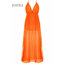 Stylish Plunging Neck Split Maxi Women Dress