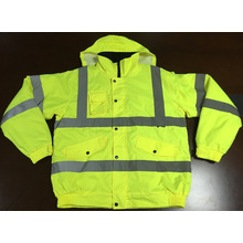 Reflective Jacket with Cap, Made of 100% Polyester Oxford Waterproof
