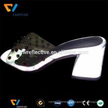 Tecido refletivo de 3m de prata para fazer sapatos de salto alto
