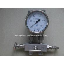 Calibre de pression en acier inoxydable série Ybf-Manomètre à pression-glycérine