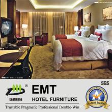 Muebles de hotel de moda marco de madera cama doble conjunto (emt-b1205)