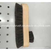 Wooden Base Horse Hair Shoe Cleaning Brush (YY-482)