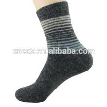 15PKSC02 novo inverno grosso cor tiras de lã spandex meias homens