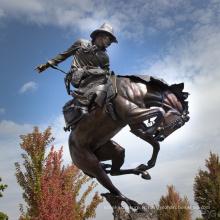 grand jardin sculptures en plein air métal artisanat sculpture bronze cowboy
