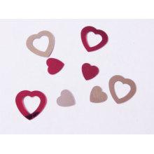 Amor coração glitter confete