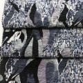 2016 moda impresa tela de gasa de la arruga
