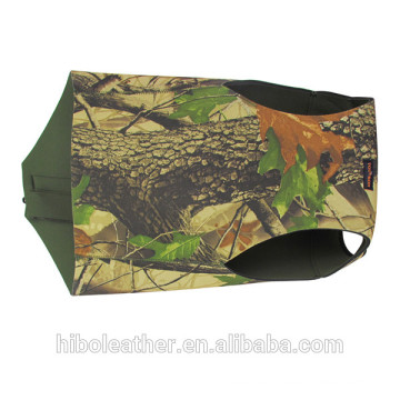 Hunting camo waterproof neoprene zipper closure waistcoat dog vest dog jacket