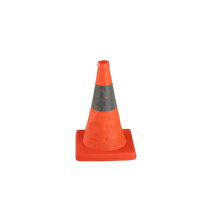 collapsible reflective traffic cone with warning light