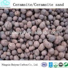 Wasserbehandlungsmaterialien 2-4mm natürlicher Ceramsite / Ceramsite-Sand