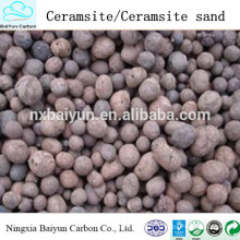 Water Treatment Materials 2-4mm Natural Ceramsite / Ceramsite Sand