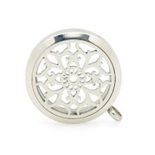 Pingente de medalhão de aromaterapia na moda, medalhões de perfume de recipiente de perfume sólido