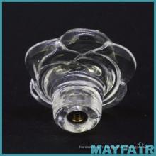 Bouton de tiroir rose en verre transparent de haute qualité