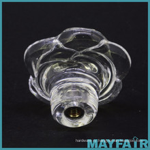 High Quality Clear Glass Rose Drawer Knob