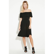 Robe sans manches MIDI Lady Off-The-Shoulder