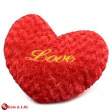 Almohada encantadora promocional de encargo del corazón de la felpa