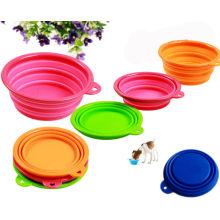 2014 Nouveaux produits Portable Silicone Pet Fooding Bowl