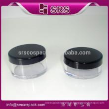 Produit de mode beauté produit jar pâté et flacon transparent coloré pour poudre