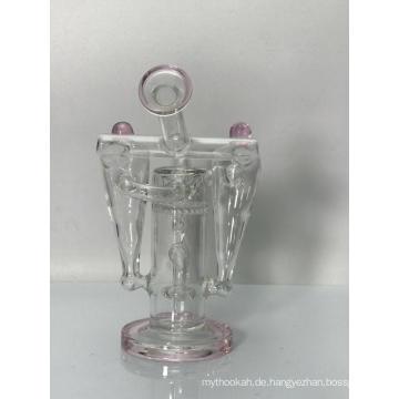 Rosa Roboter Recycler Glaswasserrohr Bongs
