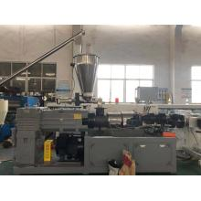 PVC 2 cavity plastic pipe extrusion line