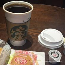 Copo descartável de papel de café com tampa
