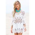 Women Casual Dress Without Sleeve Boho Crocheted Cami Dress Comfortable