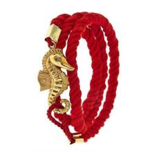 Bracelete da amizade do algodão da forma com o cabo no bracelete do dragão do símbolo de China
