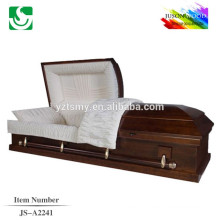 Traditional high gloss standard solid wood casket color