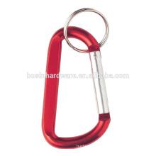 Moda alta qualidade metal promoção carabiner chaveiro