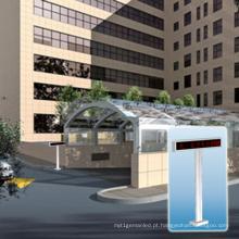 Tela exterior da mensagem do diodo emissor de luz do sistema de orientação do estacionamento