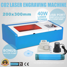 300X200mm 40W CO2 Laser Stamp Rubber Band Making Machine