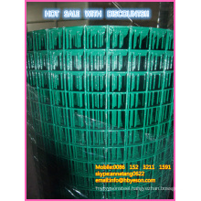 Anping factory 24-Inch x 25-Foot 1-Inch Mesh PVC Coated Green Poultry Netting