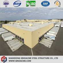 Certificated Large Span Steel Structure Factory /Warehouse for Trucks