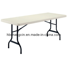 High Quality HDPE Blow Mould Folding Plastic Table