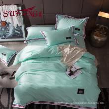 Роскошный отель постельных принадлежностей 100% хлопок цвет полосатый 60х 300TC