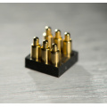 6-Pin Right Angle Gold-Plated Pogo Pin Connector
