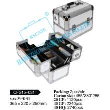 Etui de haute qualité Portable maquillage en aluminium avec surface de beauté
